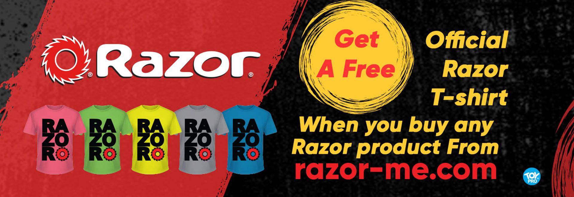 razor official t shirt